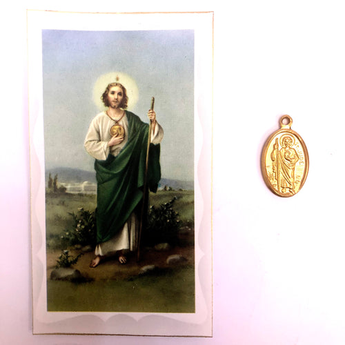 St Jude Prayer Card & Medal