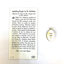 St Anthony Prayer Card & Medal