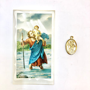 The Motorists Prayer Card & Medal
