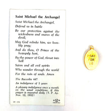 St Michael the Archangel Prayer Card & Medal