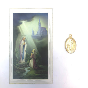 Our Lady Prayer Card & Medal