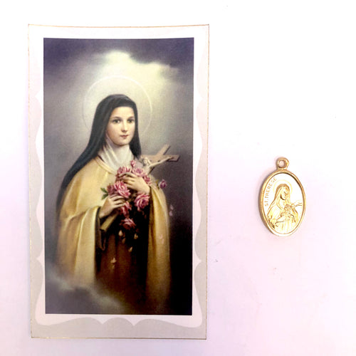 St Theresa Prayer Card & Medal