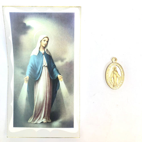 St Bernard Prayer Card & Medal