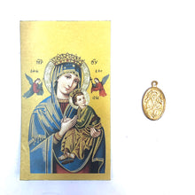 Mother of Perpetual Help Prayer Card & Medal