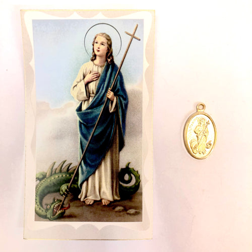 St Martha Help Prayer Card & Medal
