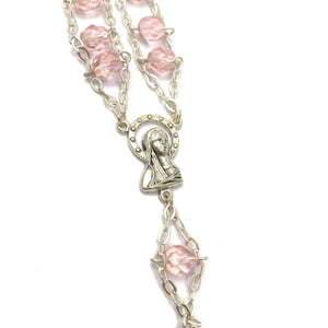 Intricate Pink Beaded Rosary