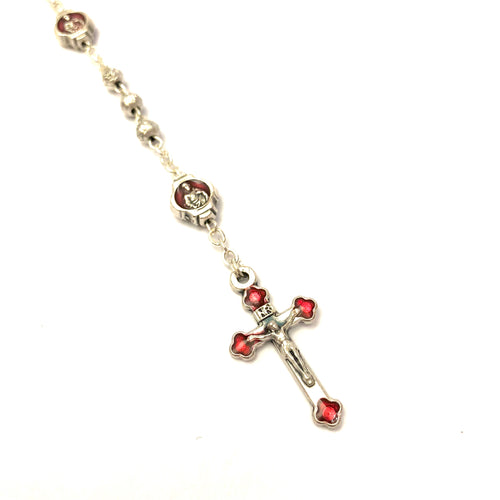Metal Beaded Rosary with Luxury Box