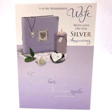 Silver Anniversary for Wife Card