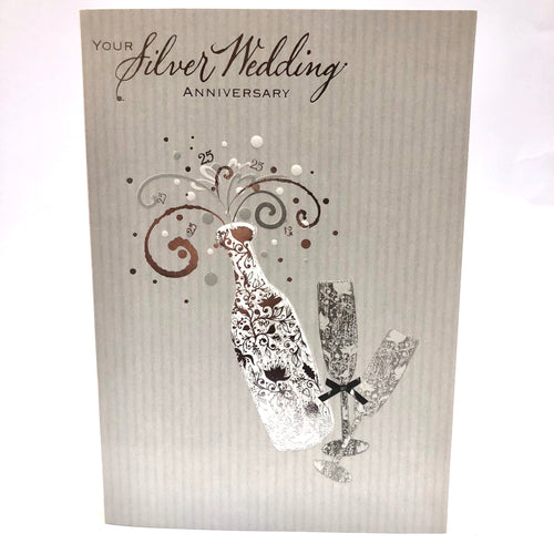 Silver Wedding Card