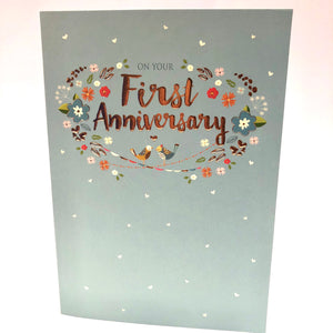 First Anniversary Card