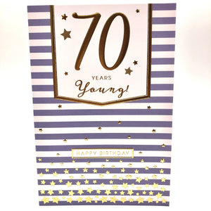 70 Years Young Card