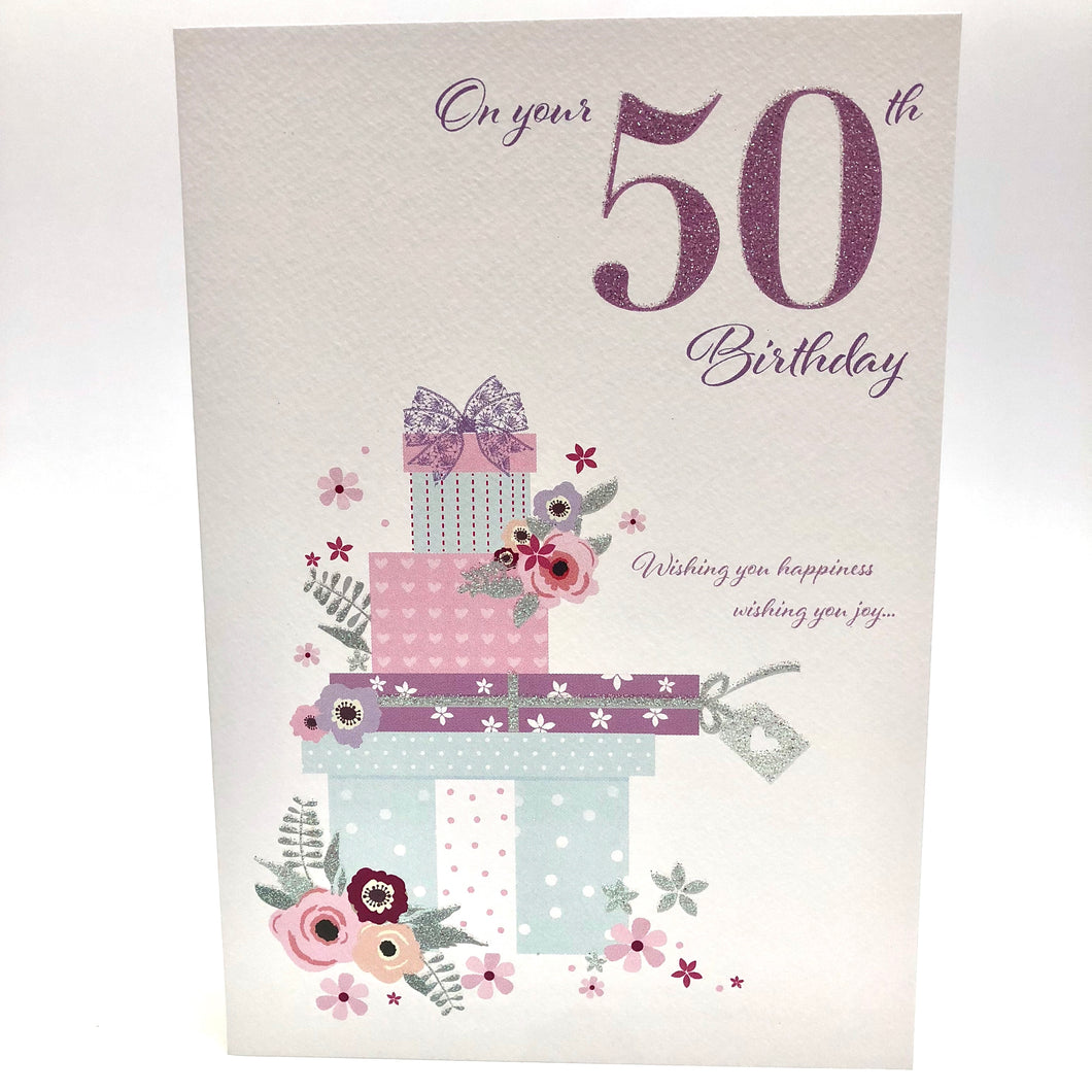 50th Birthday Present Card