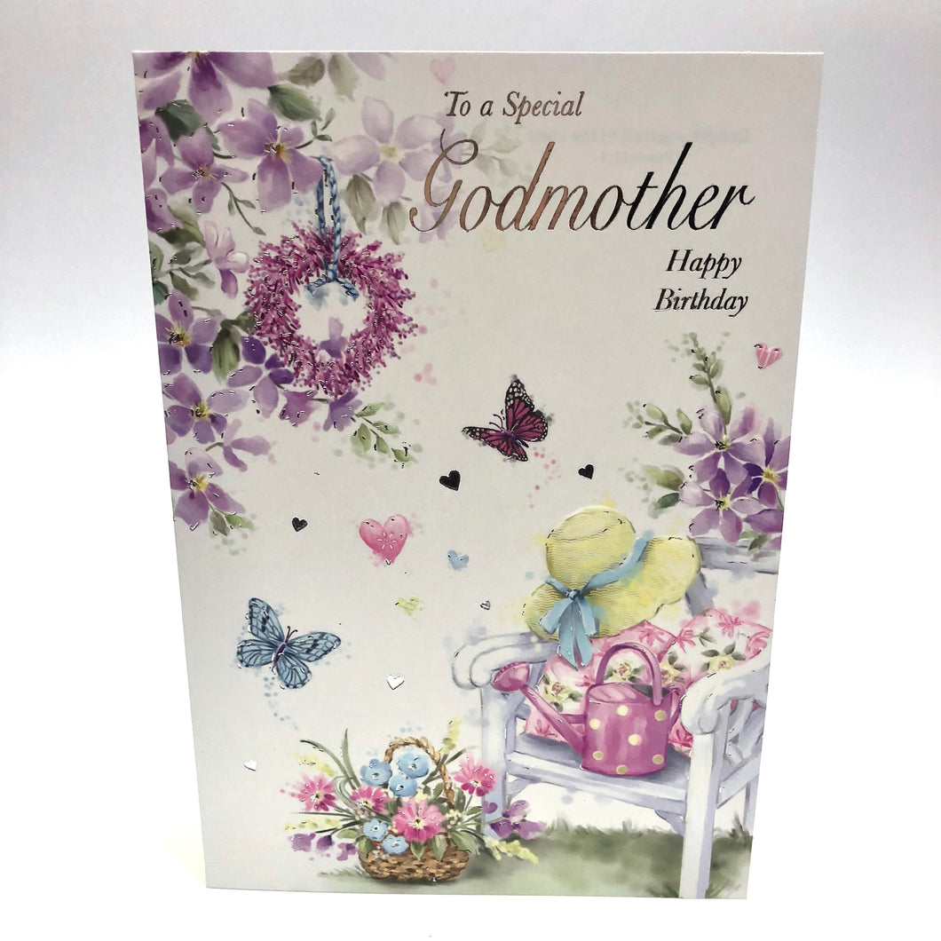 Godmother Birthday Card Rainbow Bookshop Swindon