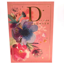 D is for Daughter Birthday Card