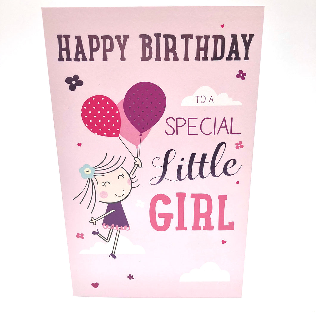 Special Little Girl Birthday Card