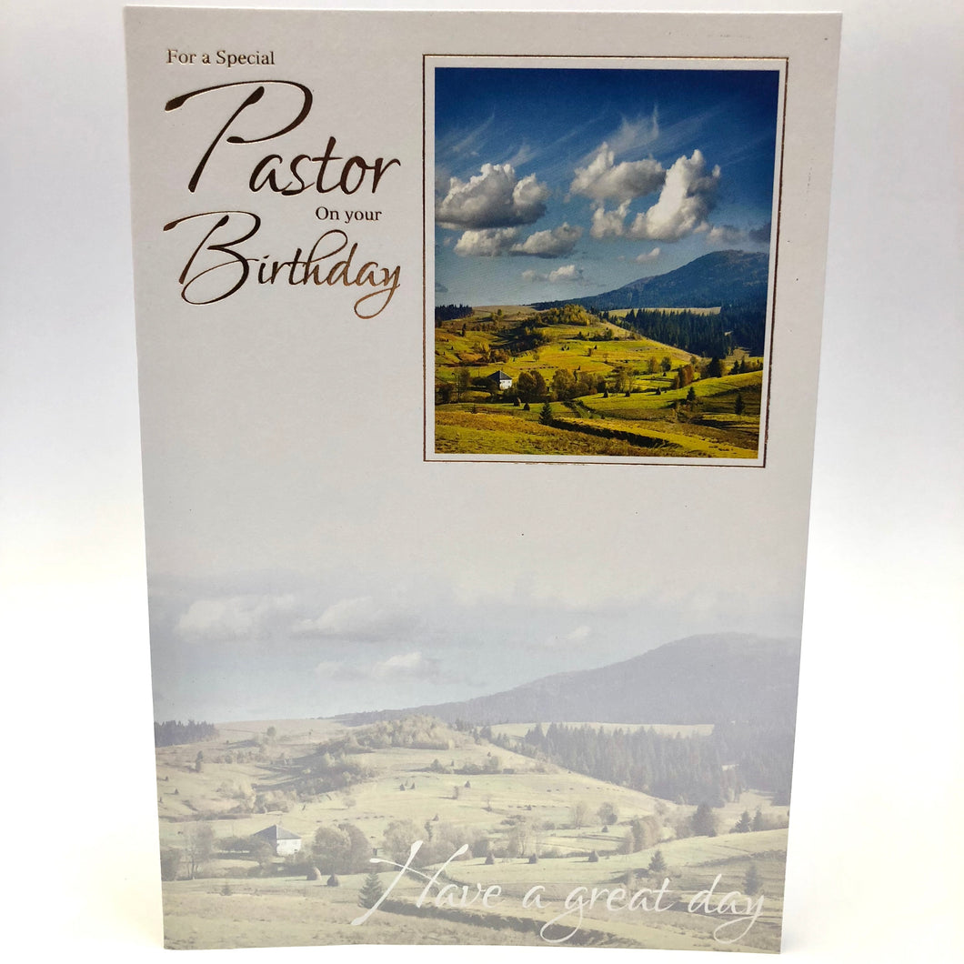 Pastor Birthday Card