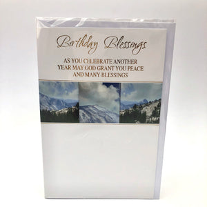 Birthday Blessings Mountain Card