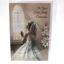 Girl Praying Communion Card