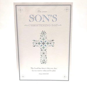 On Your Sons Christening Card