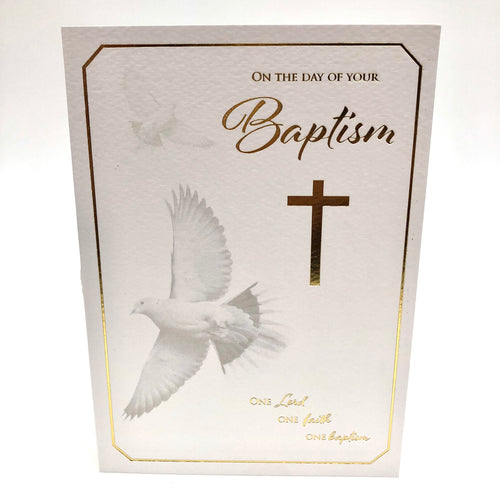 Baptism Dove Card
