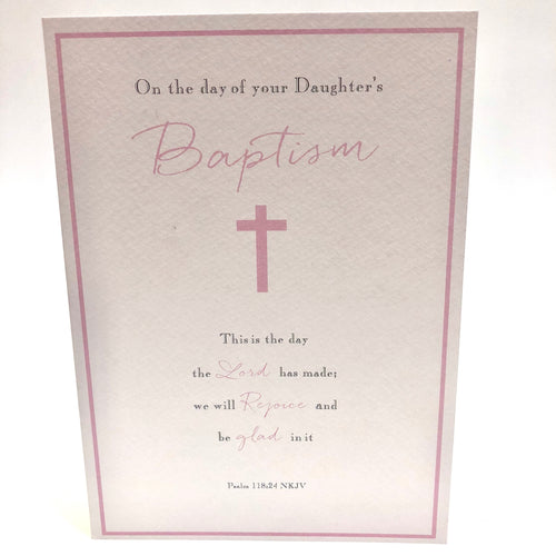 For your Daughter Baptism Card