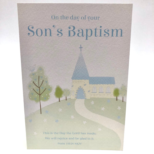 Son's Baptism Church Card