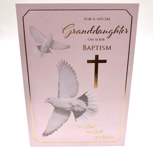 Special Granddaughter Baptism Card