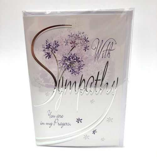 With Sympathy & Prayers Card