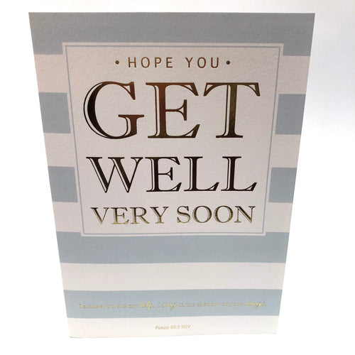 Get Well Soon Stripy Card