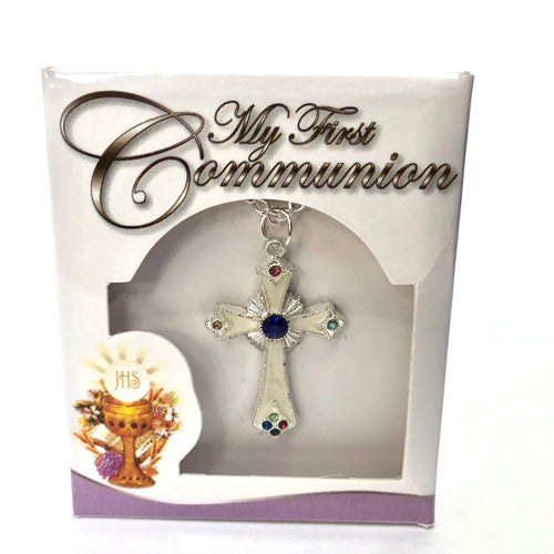 First Holy Communion Cross Necklace