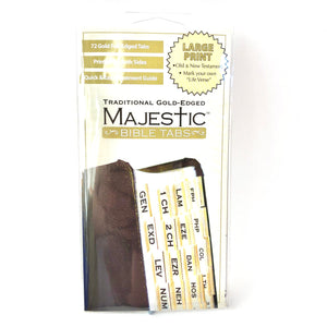 Gold Large Print Bible Tabs
