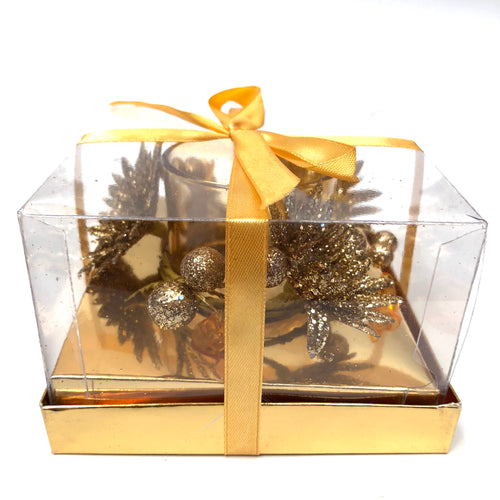 Gold Wreath Tealight Holder