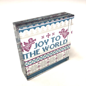 Joy to the World Glass Plaque