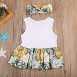 Vine Spring Floral Headband Dress - Dresses - baby-petite