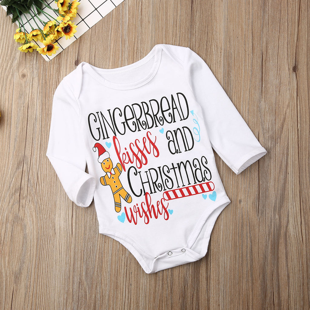 Gingerbread Kisses & Christmas Wishes Romper