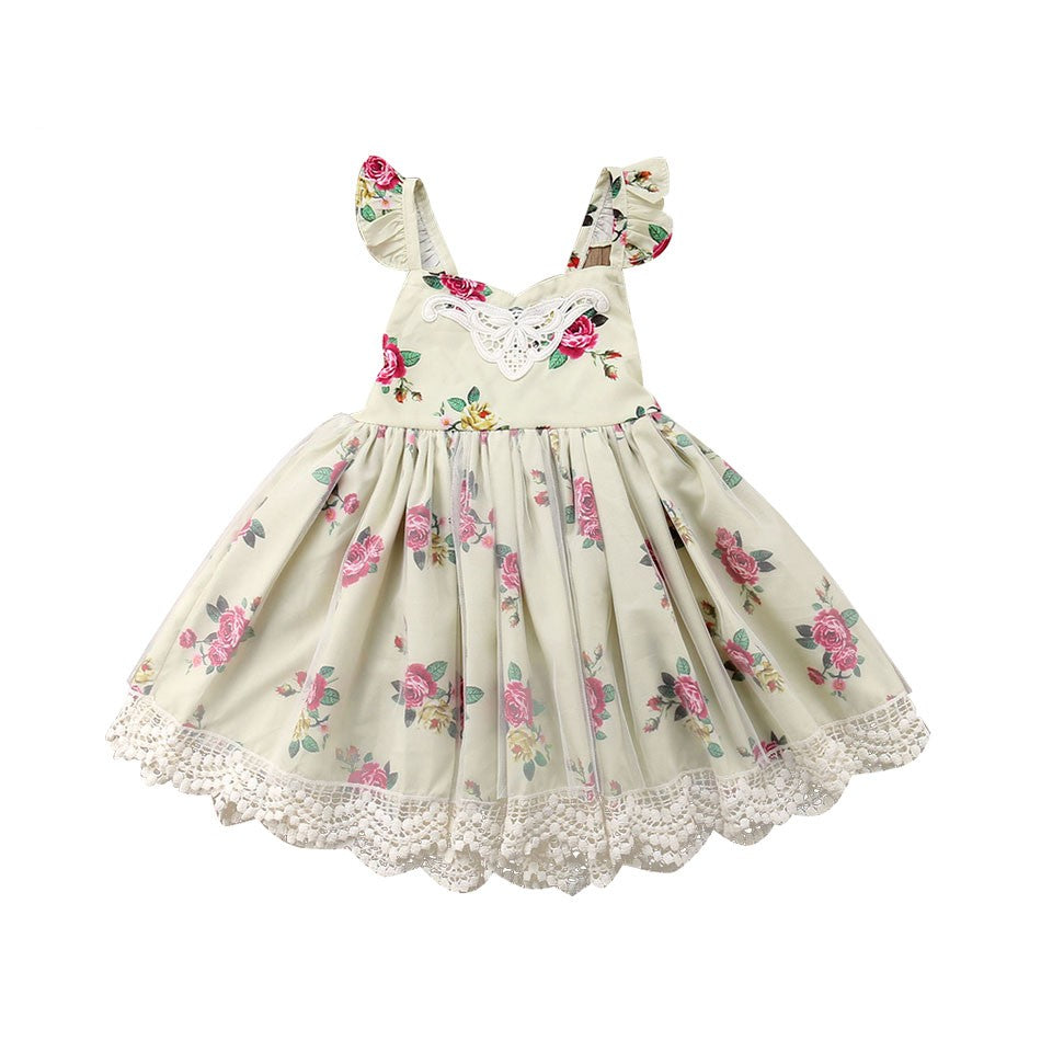 A Walk In The Park English Garden Floral Dress - Dresses - baby-petite