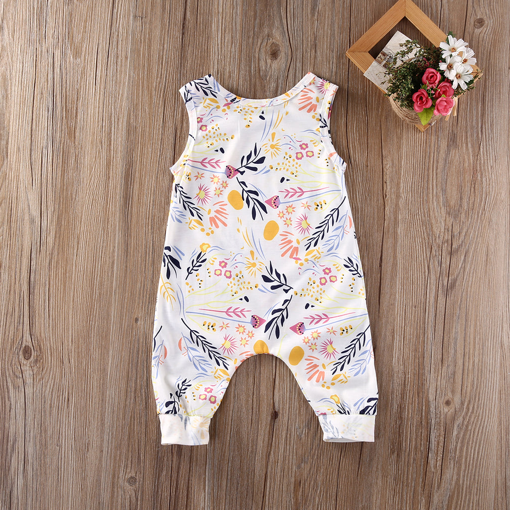 Autumn Blossom Floral Romper - Rompers - baby-petite