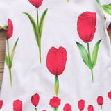 A Patch Of Tulips Floral Romper - Rompers - baby-petite