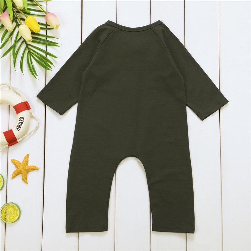 Green Hunter Romper - Rompers - baby-petite