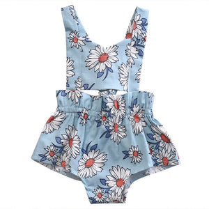 Blue Daisy Skies Romper - Kids Petite - Baby & Kids Clothing