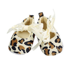 Leopard Bow Tie Slip On Shoes