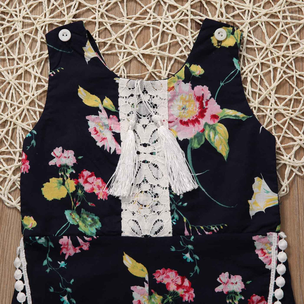 Floral Surprise Buttoned Romper - Rompers - baby-petite