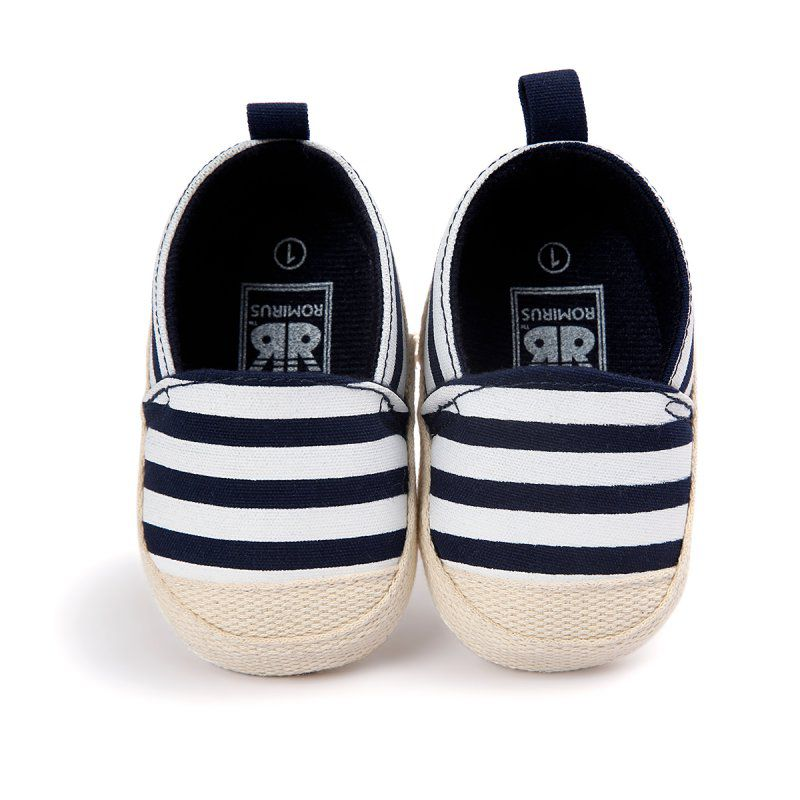 Striped Nautical Boat Shoes