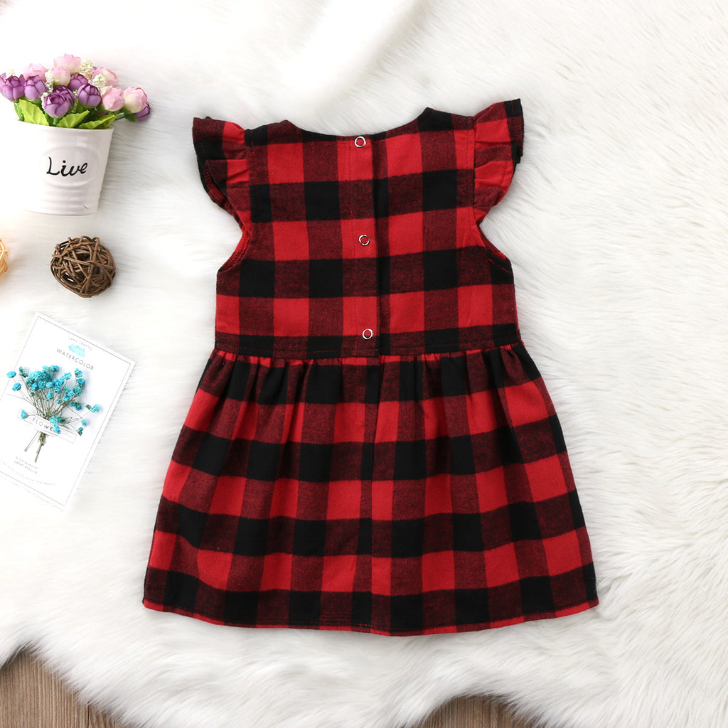 Tablecloth Picnic Plaid Dress - Dresses - baby-petite