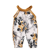 Golden Summer Sunshine Floral Romper - Rompers - baby-petite