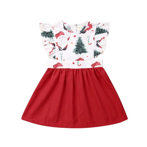 Christmas Tree & Santa Red Dress & Romper