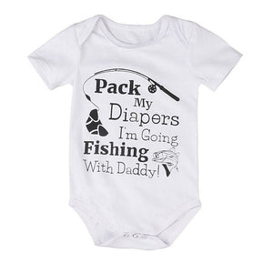 Fishing With Daddy Romper - Kids Petite - Baby & Kids Clothing