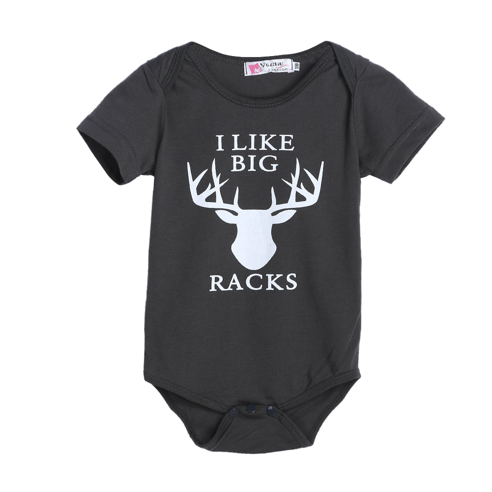 I Like Big Racks Deer Romper - Rompers - baby-petite