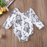 Unicorn Mystery Floral Romper - Rompers - baby-petite