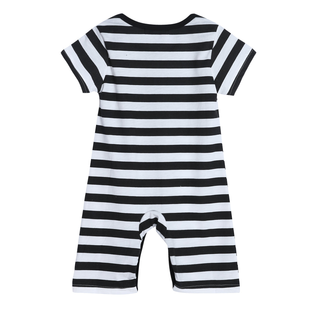 Been Inside For 9 Months Striped Romper - Kids Petite - Baby & Kids Clothing